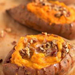 Twice Baked Sweet Potatoes | lifemadesimplebakes.com