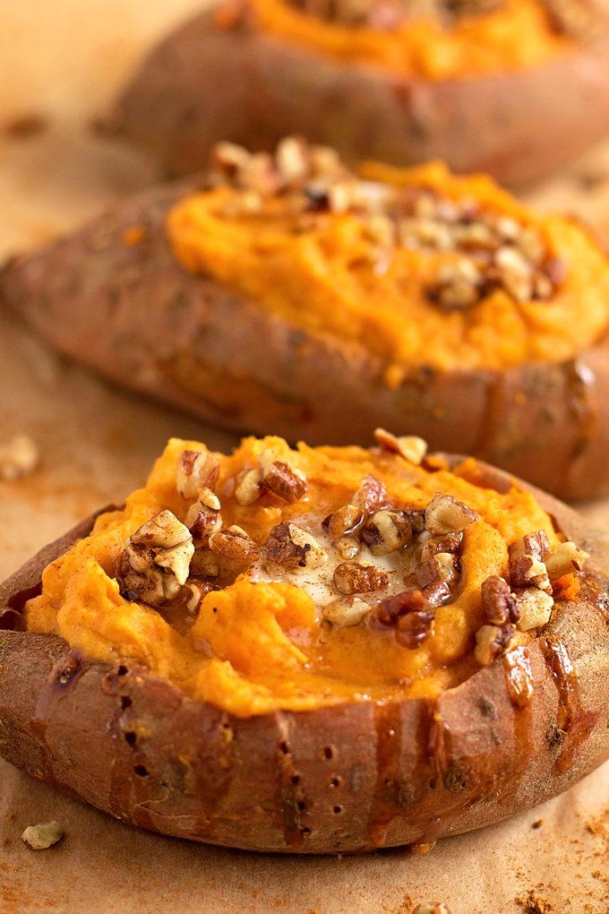 Twice Baked Sweet Potatoes   lifemadesimplebakes.com