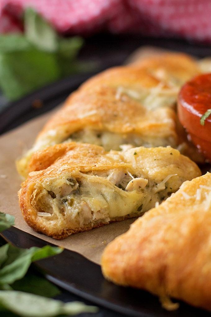 Cheesy Pesto Chicken Crescent Ring   lifemadesimplebakes.com