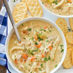 Creamy Chicken Noodle Soup | lifemadesimplebakes.com