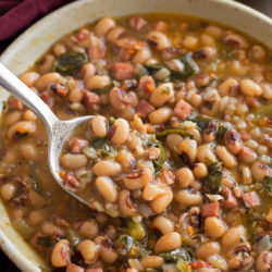 Instant Pot Black Eyed Pea Soup | lifemadesimplebakes.com