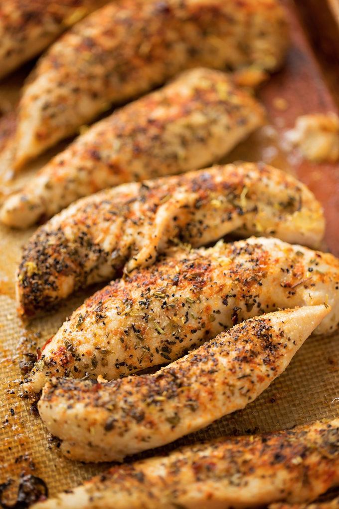 Gewürztes Hähnchen für Gyro-Salat-Rezept