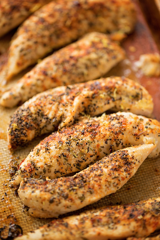 Seasoned chicken for gyro salad recipe