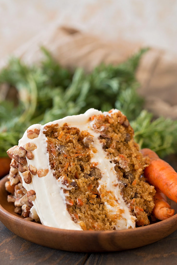 Classic Carrot Cake recipe on plate