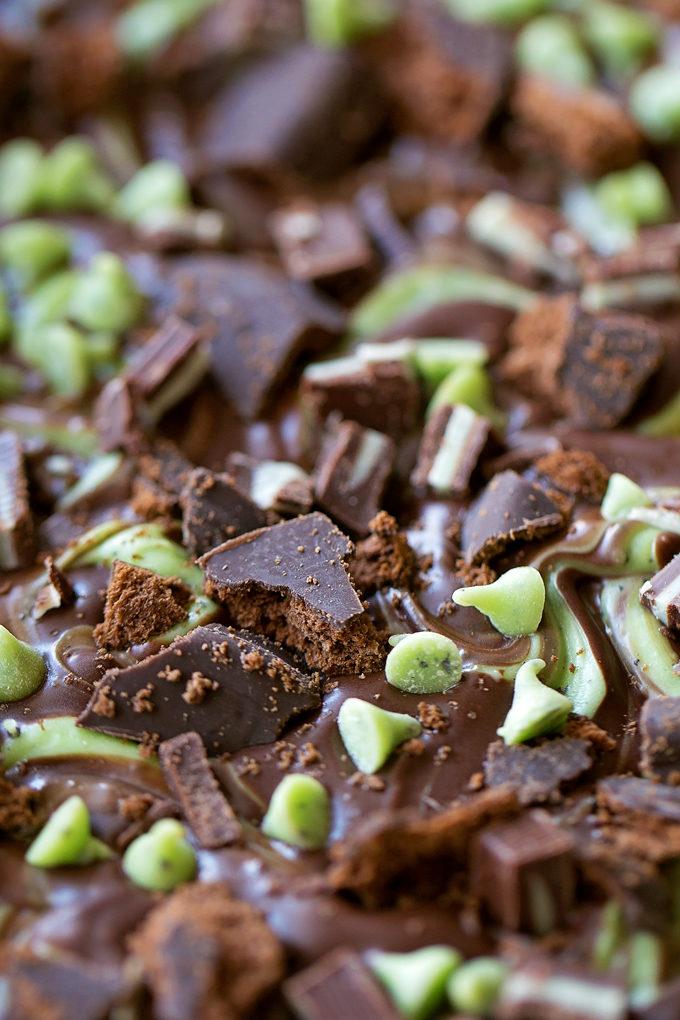Mint Overload Bark | lifemadesimplebakes.com