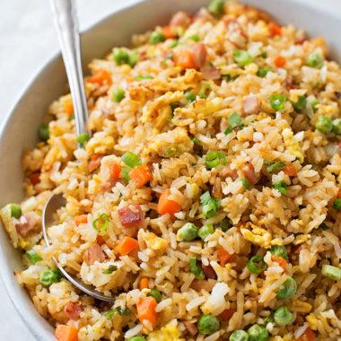 Ham Fried Rice | lifemadesimplebakes.com
