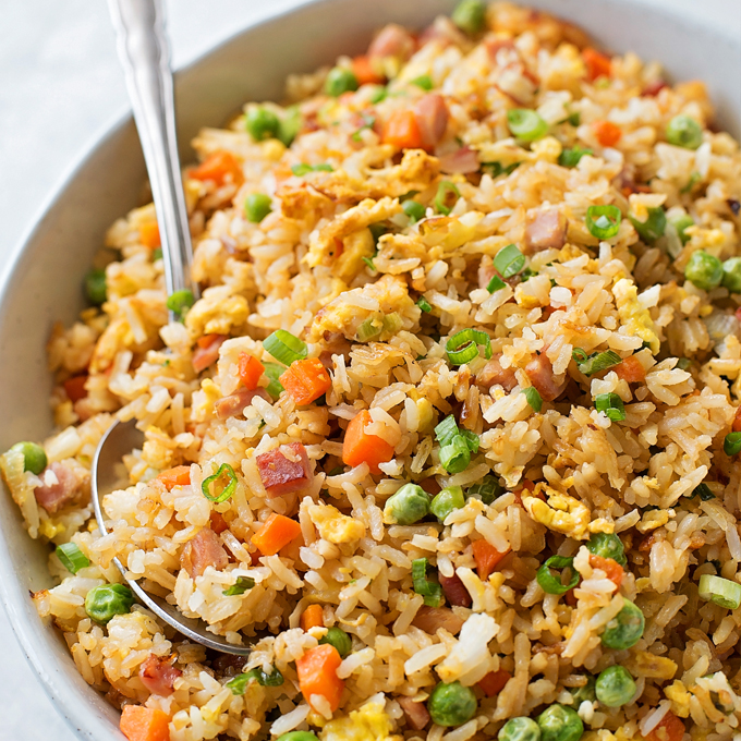 Easy Ham Fried Rice - Life Made Simple