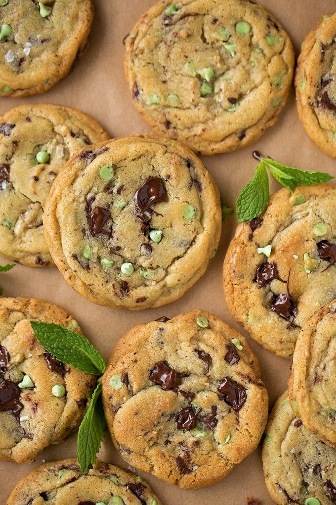 Mint Chocolate Chip Cookies | lifemadesimplebakes.com