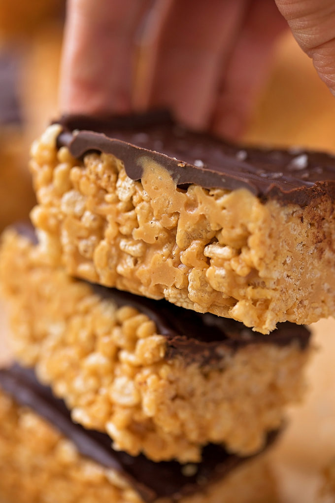 7 Ingredient Peanut Butter Rice Krispie Treats