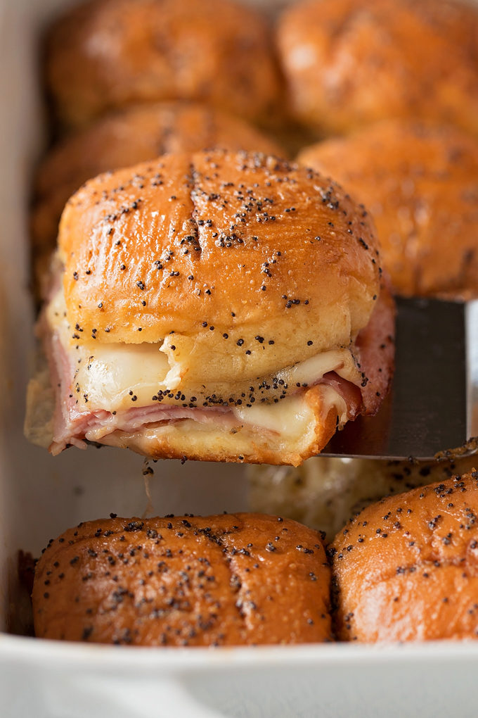 Ham and Swiss Sliders | lifemadesimplebakes.com