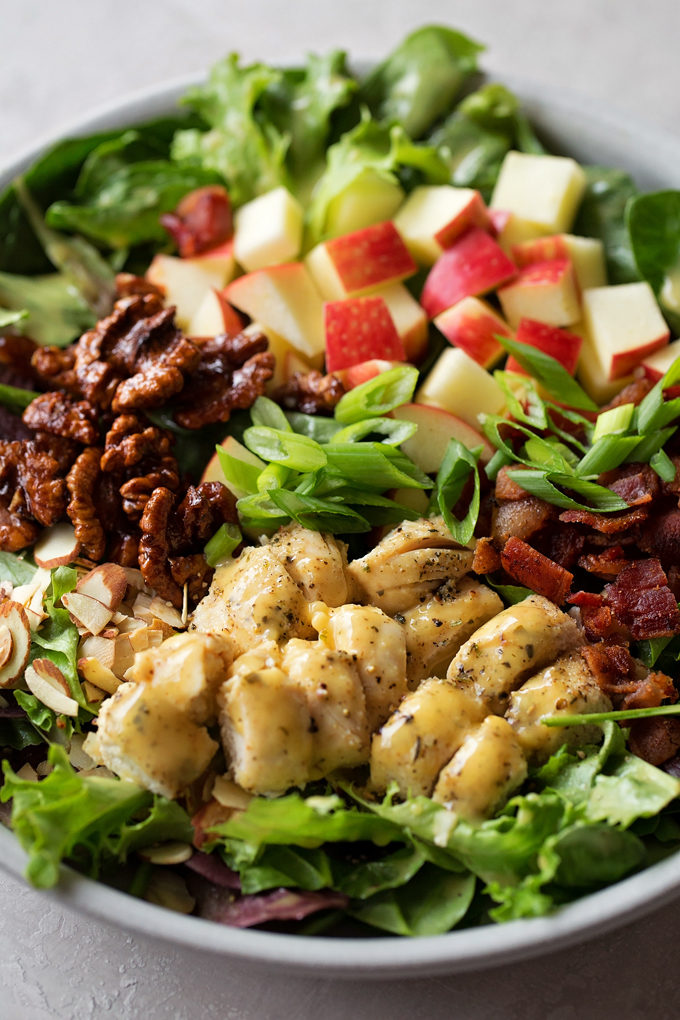 Honey Mustard Chicken Salad | lifemadesimplebakes.com