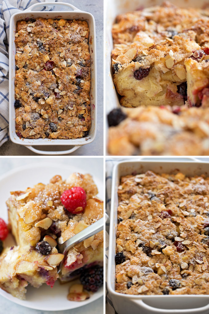 Berry French Toast Casserole process pics