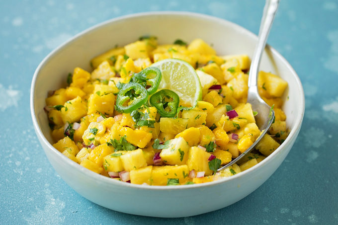 Mango Pineapple Salsa | lifemadesimplebakes.com