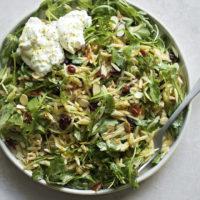 Orzo Arugula Salad with Lemon Basil Vinaigrette | lifemadesimplebakes.com