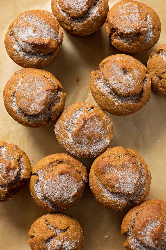 Moisty, fluffy whole wheat pumpkin muffins. | lifemadesimplebakes.com