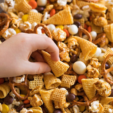 Thanksgiving snack mix.