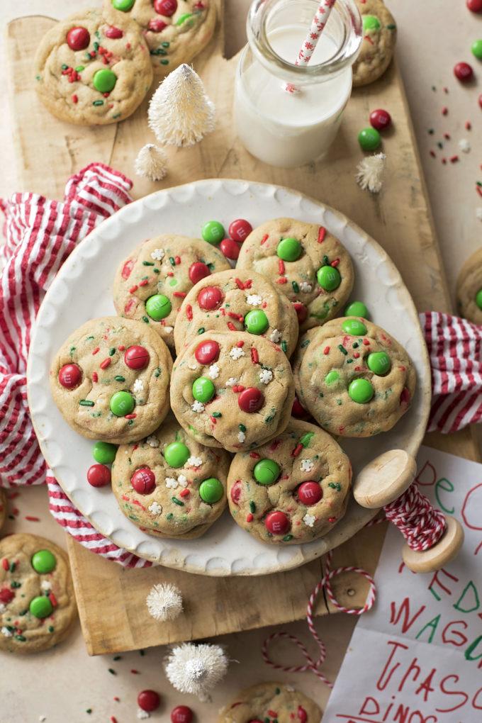 Santa cookies on a plate