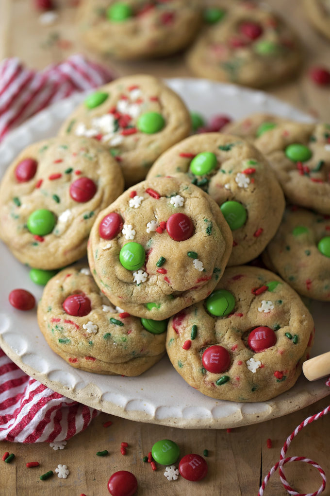 Cookies for Santa on white plate
