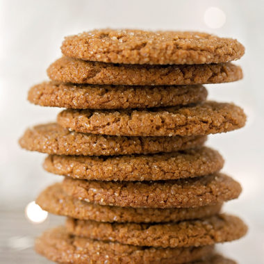 Sparkling ginger molasses cookies.