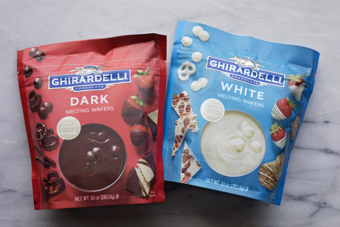 Ghirardelli melting wafers for chocolate strawberries