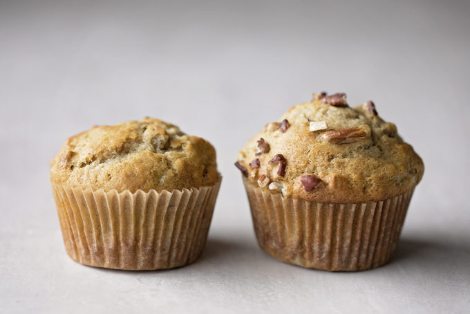 Time and temperature make all the difference when making these banana nut muffins.