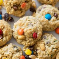 Trail Mix Oatmeal Cookies