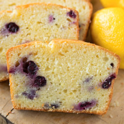 Easy and delicious lemon blueberry bread made from scratch.