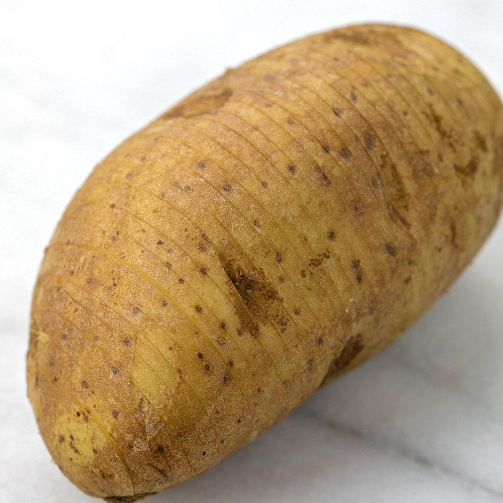 potato with thin slices in it
