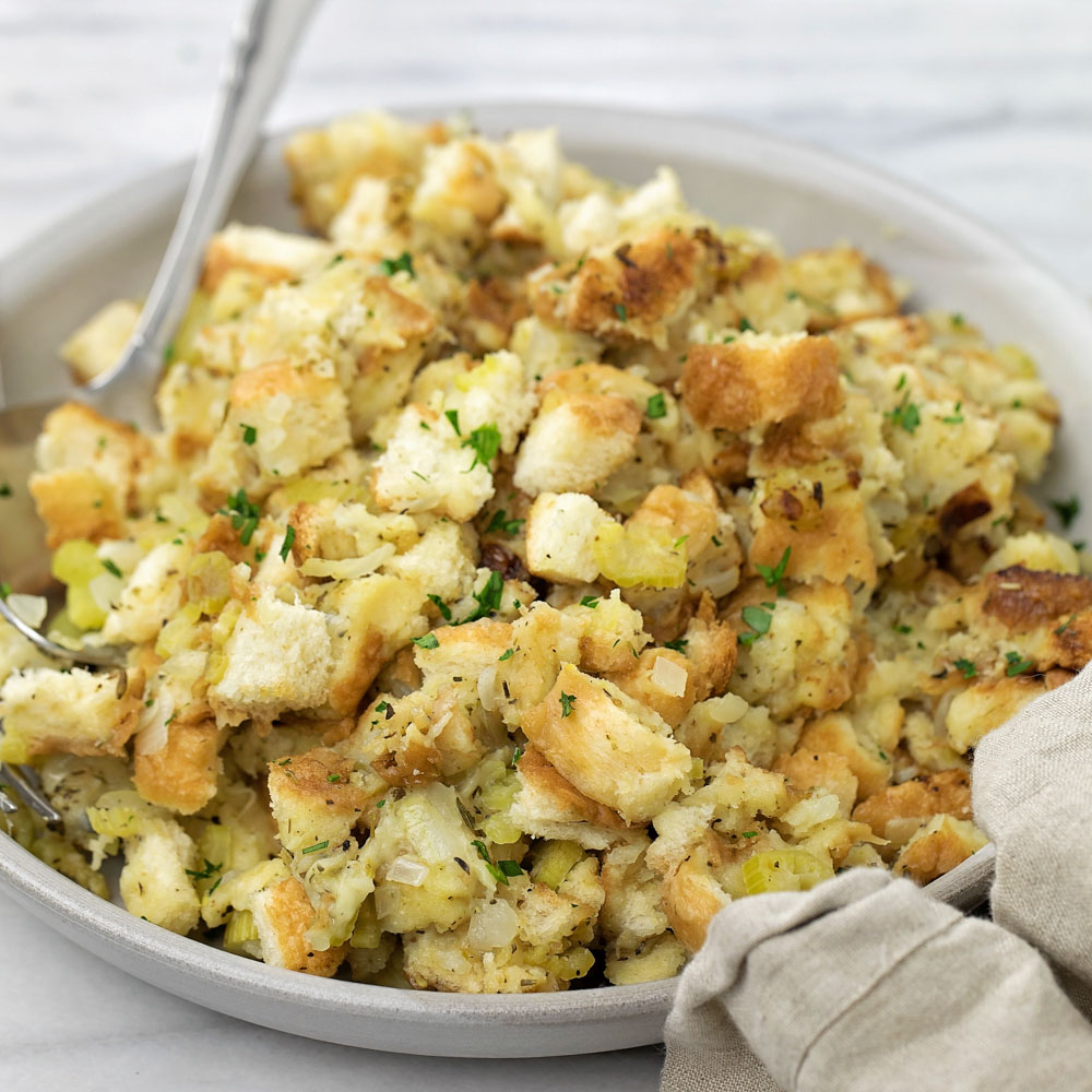 Instant Pot stuffing close up image