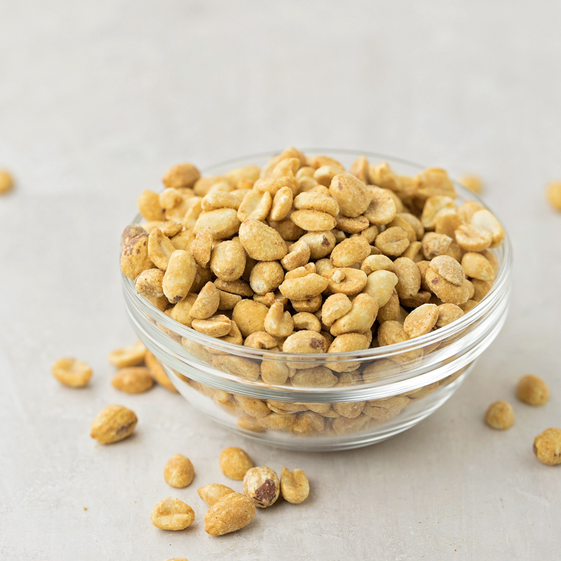 Peanuts in bowl for peanut brittle