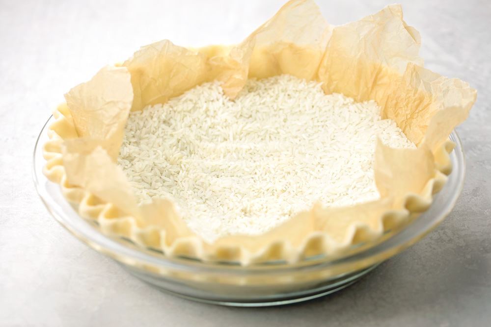 Homemade quiche crust