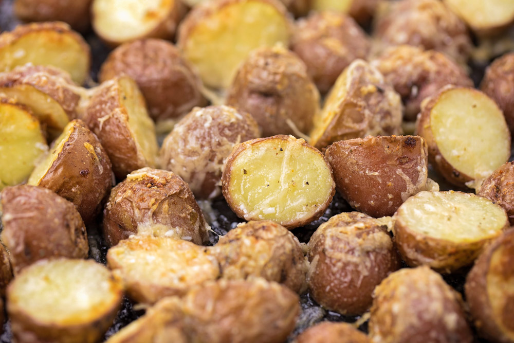 Close up of instant pot red potatoes
