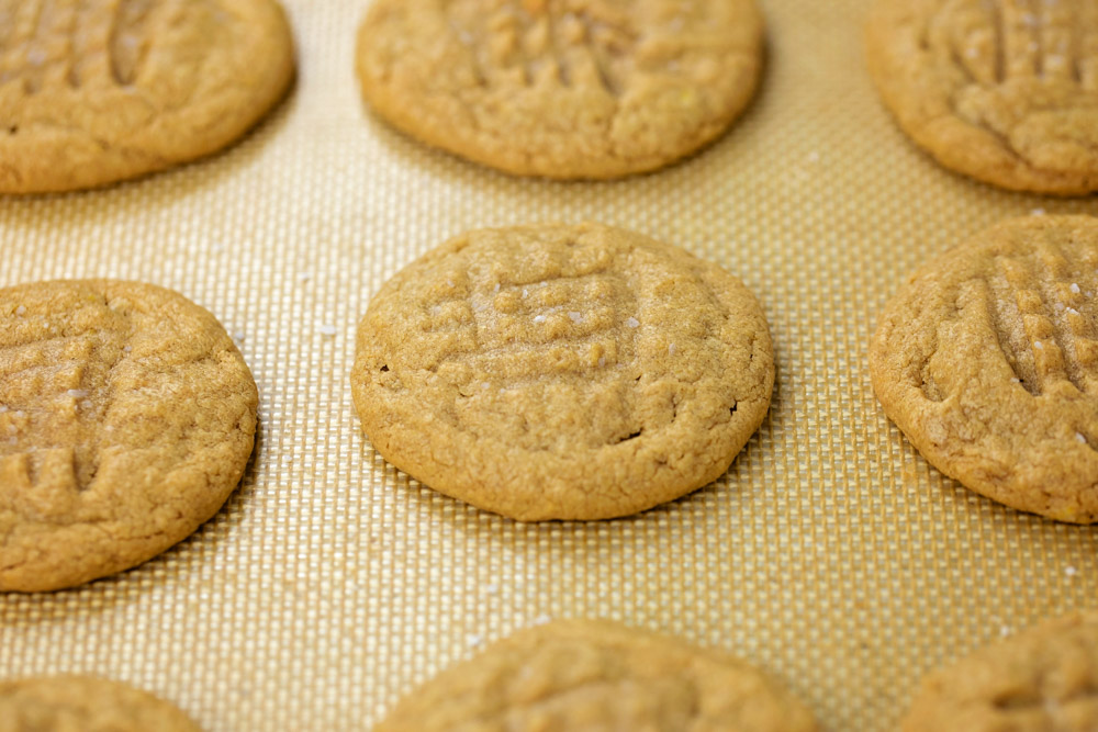 Close of up peanut butter cookies