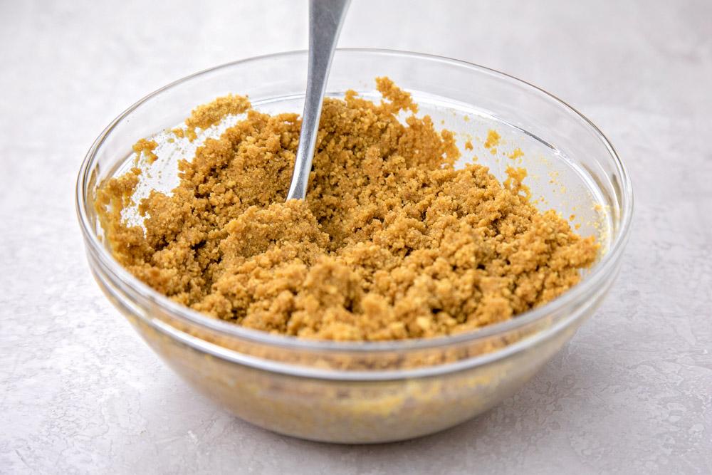 Graham cracker crust for seven layer bars