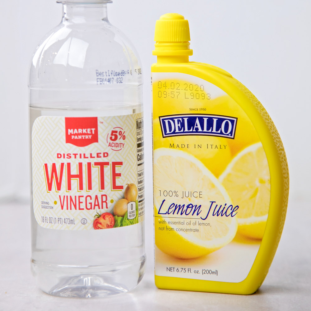 Ingredients for buttermilk substitute