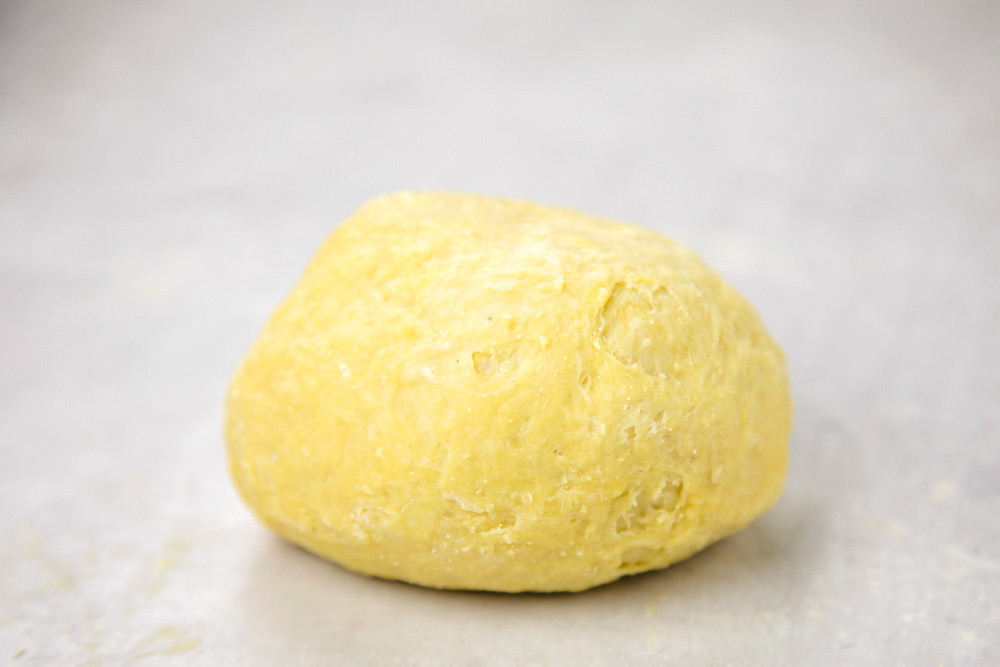 A ball of dough for homemade pasta recipe