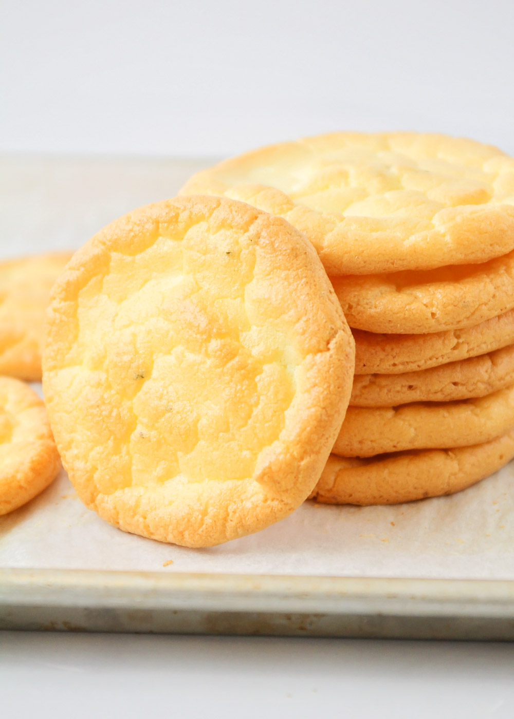 Close up of a stack of cloud bread