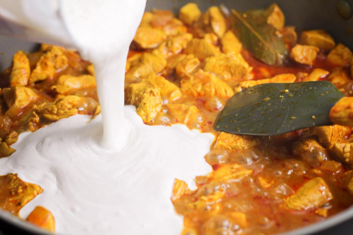 Creamy chicken korma recipe