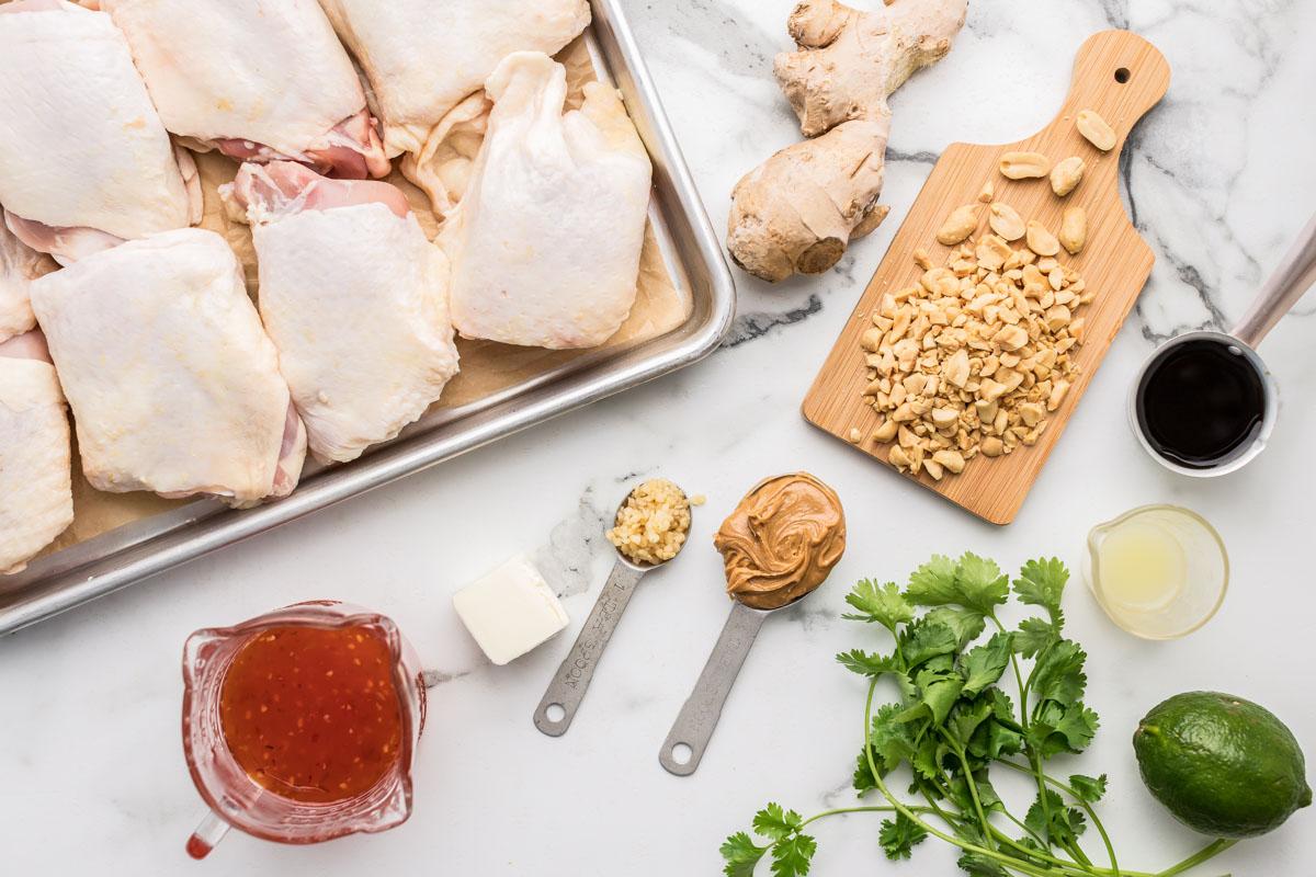 Ingredients for Thai chicken recipe