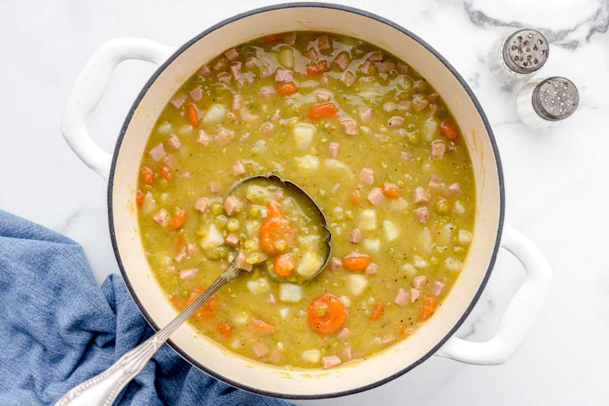 All ingredients combined and cooked in the stock pot