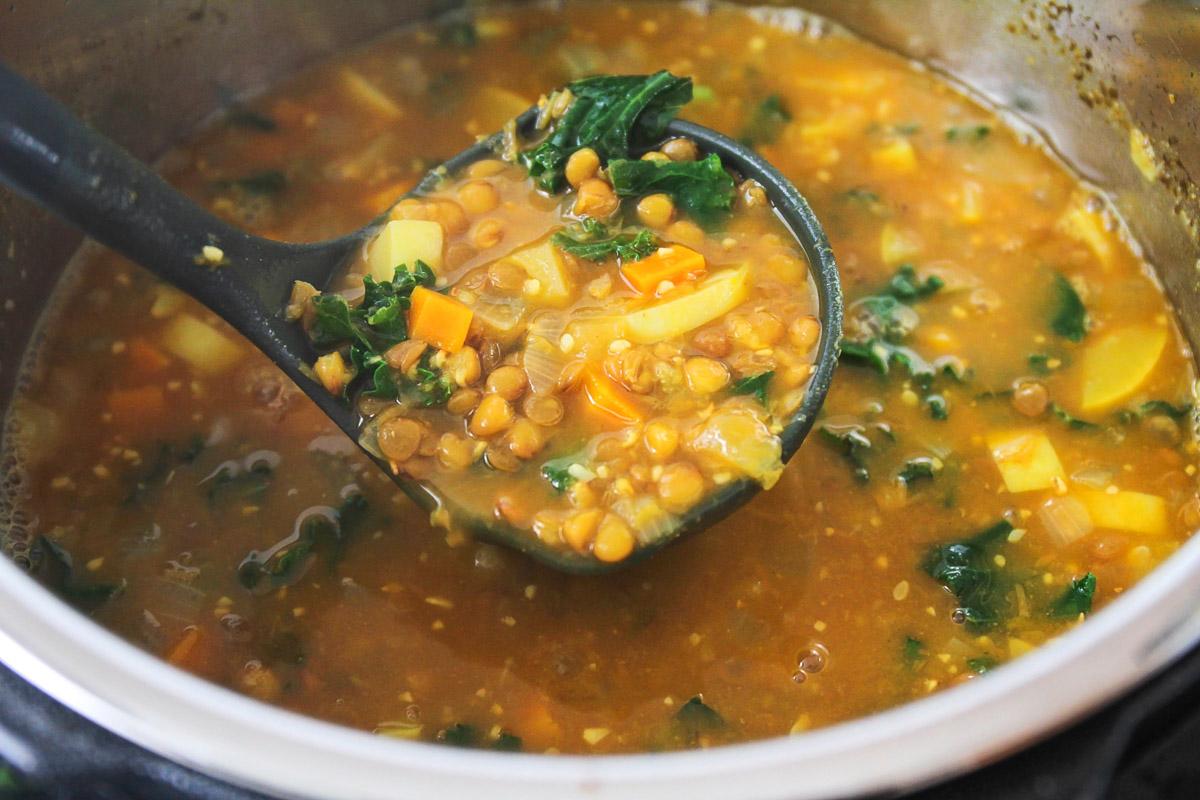 Lentil soup in the instant pot