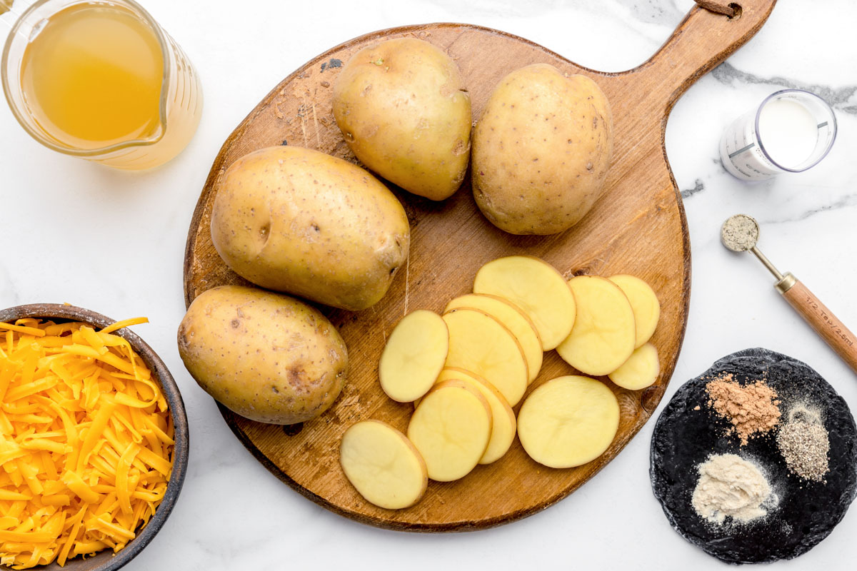 Slicing potatoes for instant pot scalloped potatoes recipe
