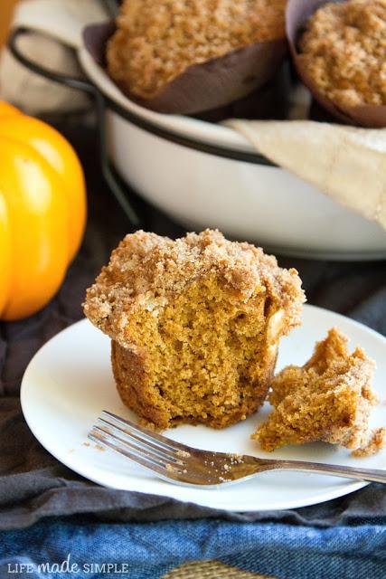 Biscoff Streusel Pumpkin Muffins
