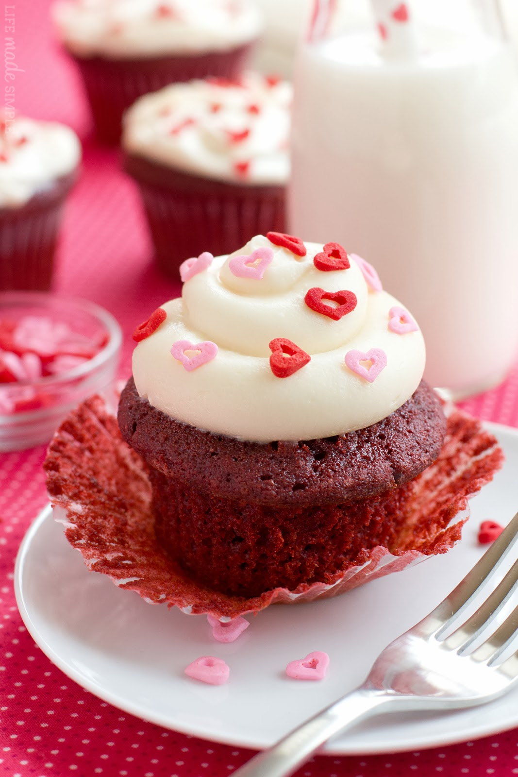 Red Velvet Cupcakes with Cream Cheese Frosting | Life Made Simple