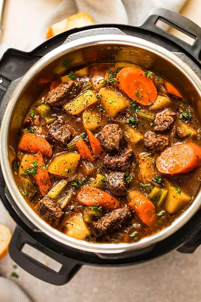 Easy Instant Pot Beef Stew Recipe | How to Make Pressure ...