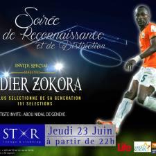 Soirée de reconnaissance et de distinction pour Zokora Didier au Life Star