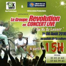 Le groupe zouglou Révolution en concert live