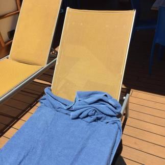 Towel falls down