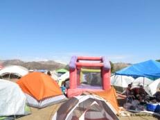 Camping w/ a Bouncy Castle!