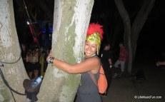 ...he made me say hi to the tree too. :)